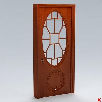 glass door 3d 3ds