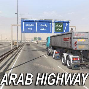 3d arab highway format model