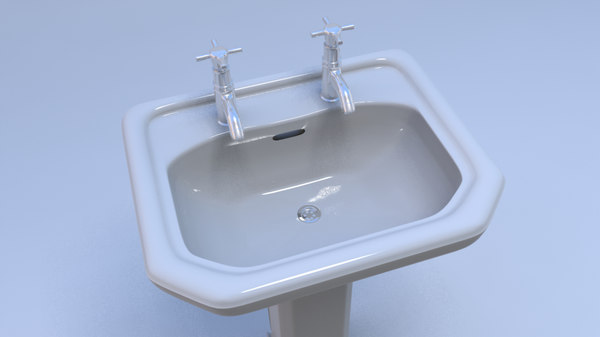 bathroom sink obj