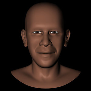 3d democratic barack obama head model