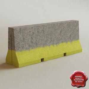 maya concrete barrier v1