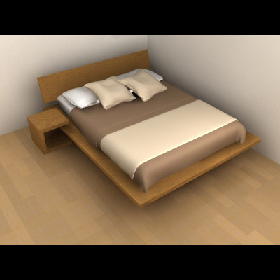 3d bed double