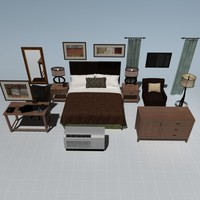 complete bedroom set bed max