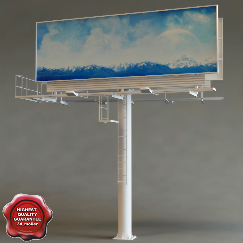 3d model of billboard v4