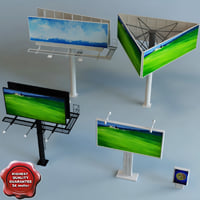 3d model billboards modelled standard
