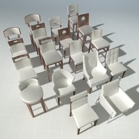 3d model end designer chairs vol 1