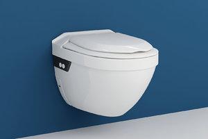 3d model closomat aquaris hanging toilet