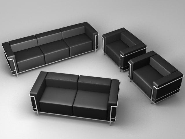 cassina lc3 le corbusier max. Black Bedroom Furniture Sets. Home Design Ideas