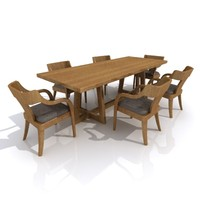 dinning table set 3ds