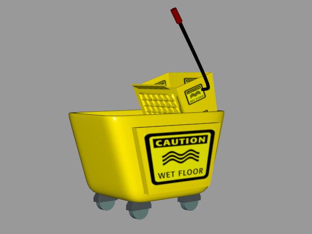 3d model of moptub mop tub