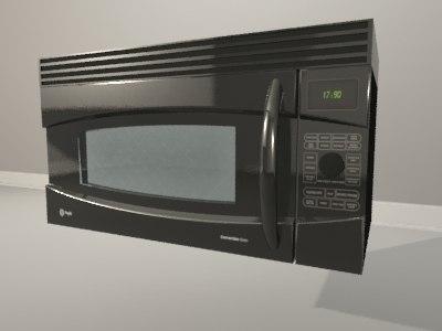 Max Black Ge Microwave Oven