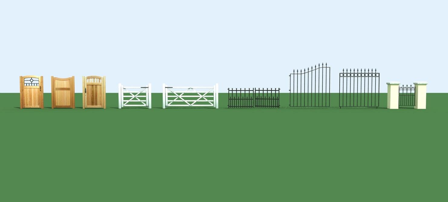 3dsmax set gates