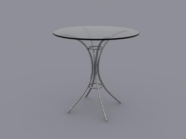 glass table 3d model