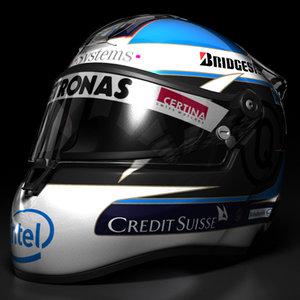 3d model nick heidfeld helmet 2008