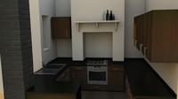 complete kitchen 3d obj