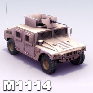 3d model m1114 hmmwv m1025