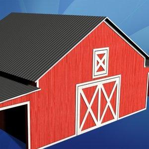 miniature barn 3d model