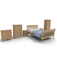 natural westbury bedroom bed max