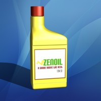 engine oil quart container 3d 3ds