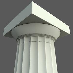 maya doric column parthenon