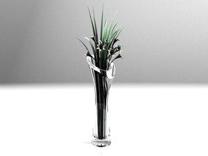 flowers vase realistic x