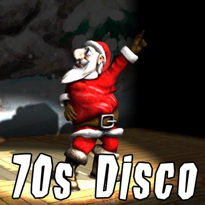 santa claus dancing disco 3d model
