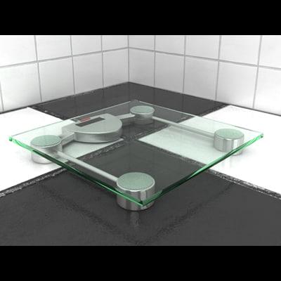 bathroom scale 3d max
