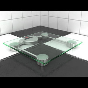 bathroom scale 3d max