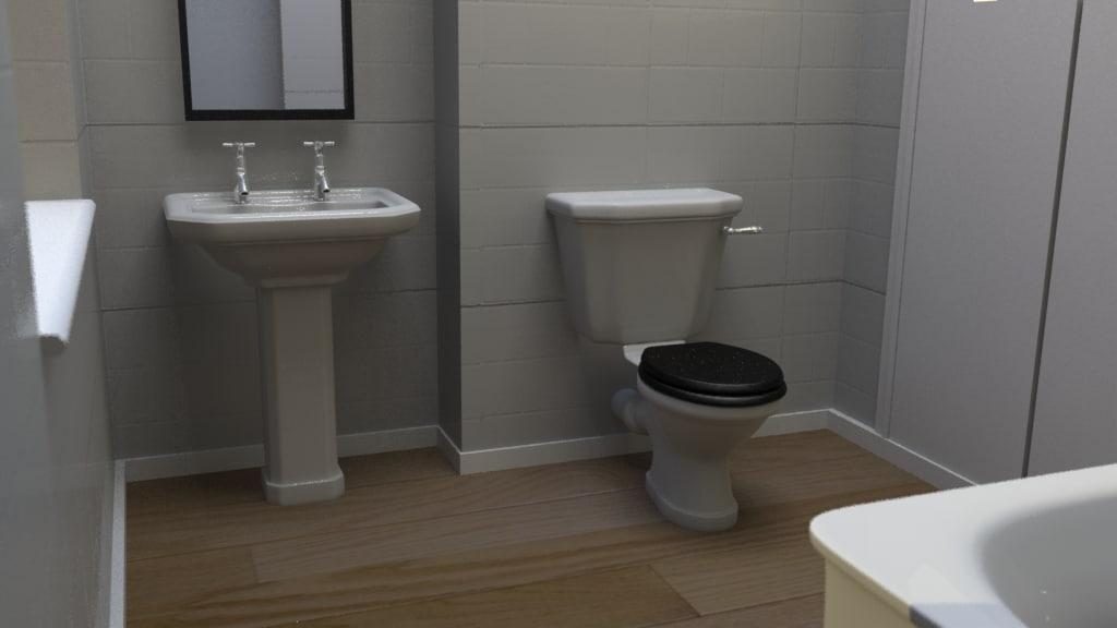complete bathroom obj