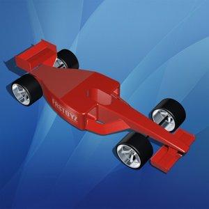3d model toy formula 1 race car