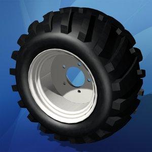 maya tractor tire wheel