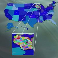 3ds max usa wisconsin counties