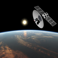 3d spy satellite model