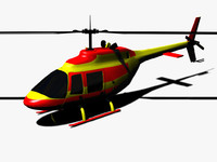 helicopter 206b 3d max