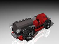 3d model lego adventure sport car