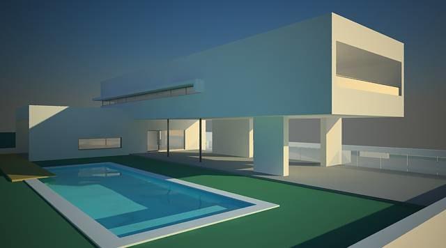 3d 3ds modern house