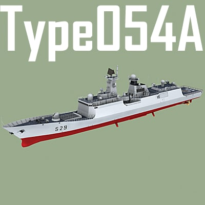 3d model frigate type 054 jiangkai