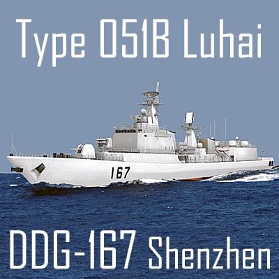 type 051b luhai class 3d model