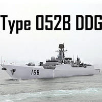 Chinese Navy Type 052B Luyang Class Missile Destroyer (low polygon)