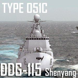 3d type 051c luzhou class model