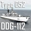 Chinese Navy Type 052 Luhu Class DDG-112 Harbin (low polygon)
