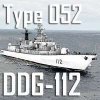 Chinese Navy Type 052 Luhu Class DDG-112 Harbin (low polygon)