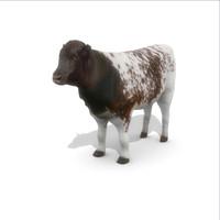 3d cow 1 model