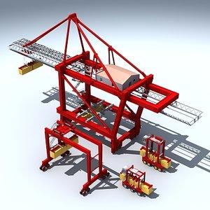3d model of cargo crane