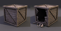 Low Poly Wooden Crates