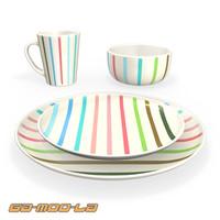 plate mug bowl 3d model
