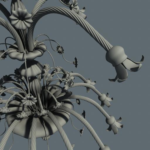 3d chandelier antique