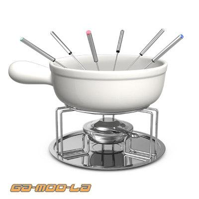 fondue set 3d model