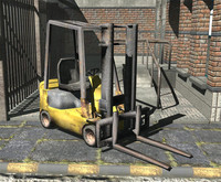 low-poly forklift