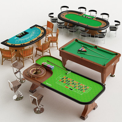 3d casino poker table